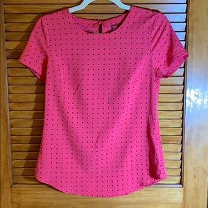 Target pink polka dot blouse XS